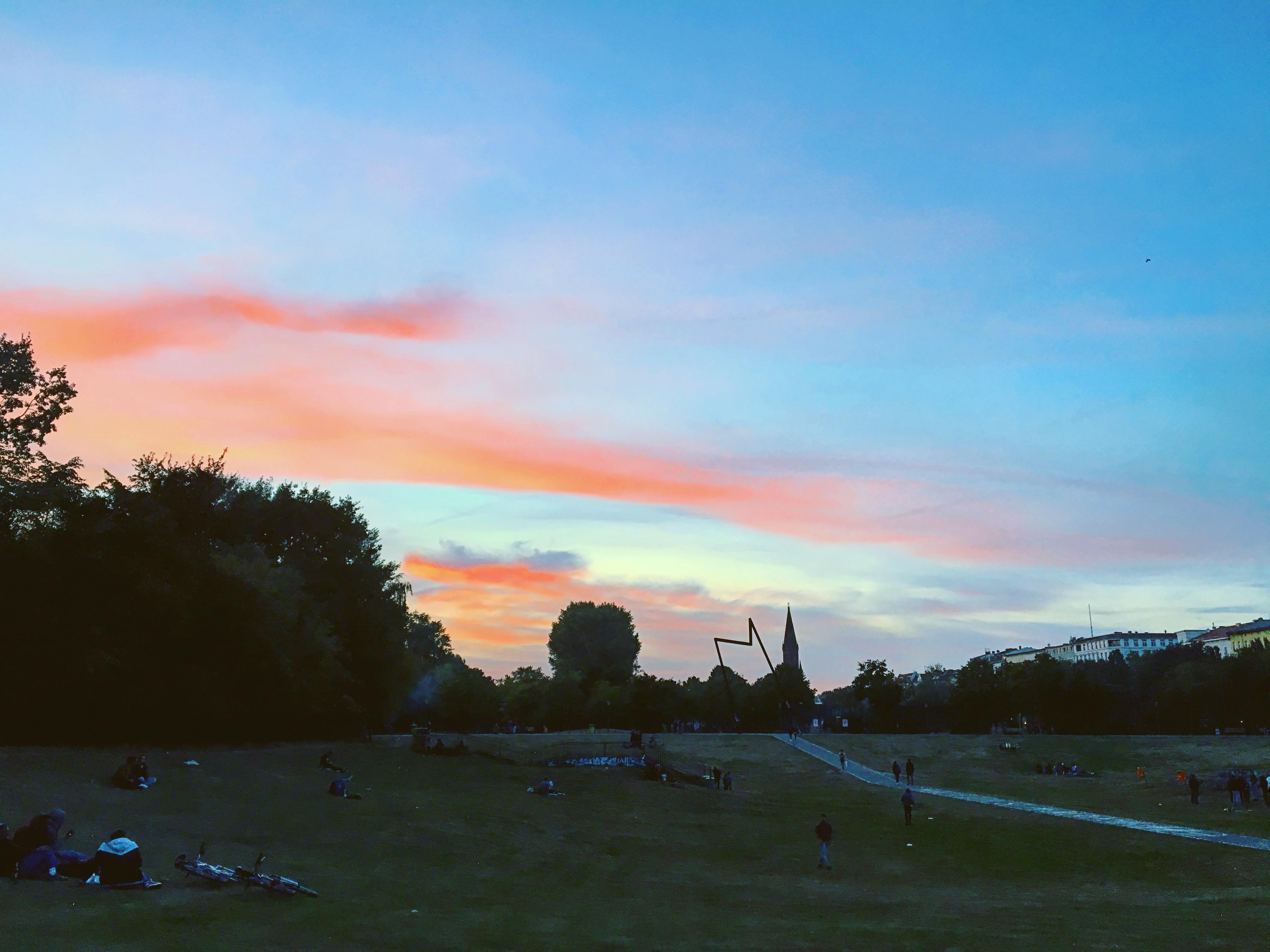 Görlitzer Park bei Sonnenuntergang